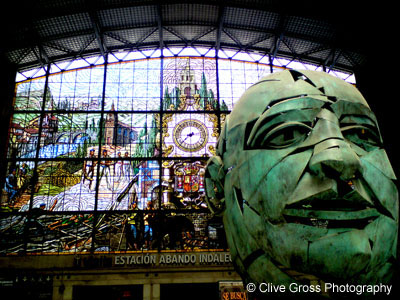 Abando Station Stained Window and Sculpture Bilbao