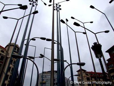Lamposts at Bilbao Bellas Artes Museum