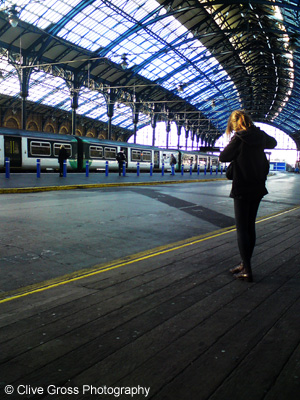 Brighton Railway station passenger
