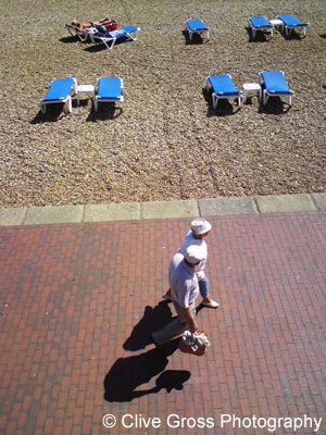 Loungers on Eastbourne Beach