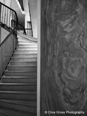 Victorian marble pillar and staircase
