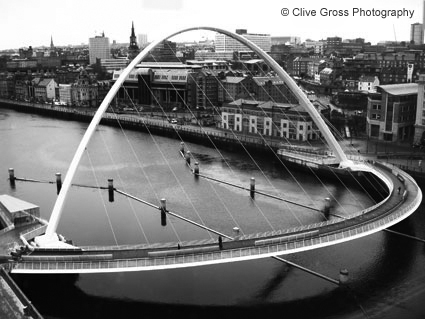 Newcastle Milenium Bridge and Tyne