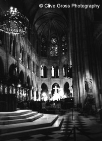 Notre Damme Cathederal interior